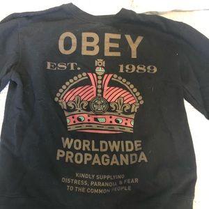 OBEY mens crewneck